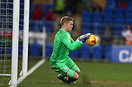 Cardiff city goalkeeper Ben Amos  makes a save.  EFL Skybet championship match, Cardiff city v Brighton & Hove Albion at the Cardiff city stadium in Cardiff, South Wales on Saturday 3rd December 2016.<br /> pic by Andrew Orchard, Andrew Orchard sports photography.
