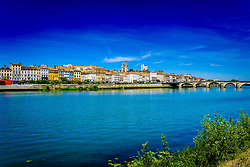 Mâcon on the banks of the Saone river in the Saone-et-Loire department of France, to the south of the Burgundy region.<br /> <br /> (c) Andrew Wilson   Edinburgh Elite media