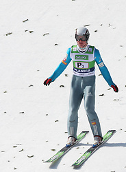 Pre-jumper Matevz Sparovec at Flying Hill Team in 3rd day of 32nd World Cup Competition of FIS World Cup Ski Jumping Final in Planica, Slovenia, on March 21, 2009. (Photo by Vid Ponikvar / Sportida)