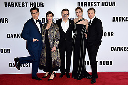 Director Joe Wright, Kristin Scott Thomas, Gary Oldman, Lily James and Samuel West attending the Darkest Hour Premiere held at the Odeon, Leicester Square, London.