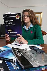 Sixth form student studying physics A Levels UK