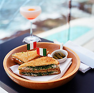 The Crab Sandwich at Icebergs Dining Room and Bar, the swank restaurant on the top floor of the Beach Club house above Bondi Swimming Pools and Bondi Beach.