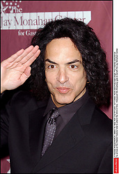 © Nicolas Khayat/ABACA. 39805-18. New York City-NY-USA, 12/11/2002. Rock band Kiss lead singer Paul Stanley pictured as he arrives at the Waldorf Astoria hotel to attend the 42nd & Vine : Hollywood hits Broadway gala to benefit the Jay Monahan Center.  | 39805_18