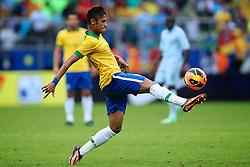 Neymar no amistoso entre Brasil e França no estádio Arena do Grêmio, em Porto Alegre (RS). FOTO: Jefferson Bernardes/Preview.com