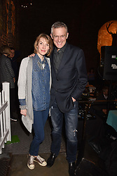 Jeremy Vine and Rachel Schofield at the Centrepoint Ultimate Pub Quiz, Village Underground, 54 Holywell Lane, London England. 7 February 2017.