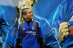 A Chelsea fans looking at images of the players - Mandatory by-line: Jason Brown/JMP - 08/05/17 - FOOTBALL - Stamford Bridge - London, England - Chelsea v Middlesbrough - Premier League