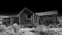 Old Buildings in Bodie Ghost Town. Image taken with a Nikon D3 camera and 24 mm f/3.5 TC-E lens.