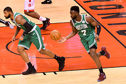 October 19, 2018 - Toronto, Ontario, Canada - Jaylen Brown #7 of the Boston Celtics runs with the ball during the Toronto Raptors vs Boston Celtics NBA regular season game at Scotiabank Arena on October 19, 2018 in Toronto, Canada (Toronto Raptors win 113-101) (Credit Image: © Anatoliy Cherkasov/NurPhoto via ZUMA Press)