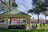 Gazebo in the City Park Plaza, Paso Robles, San Luis Obispo County, California