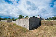 The huge walls of old Fort Erie on the Niagara river, Ontario, Canada