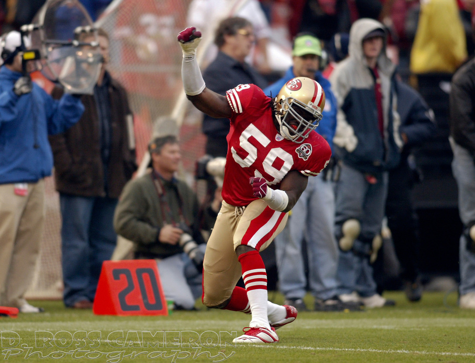 San Francisco 49ers' Renaud Williams exults after a good play against the Arizona Cardinals, during the fourth quarter of an NFL football game, Sunday, Dec. 24, 2006 at Candlestick Park in San Francisco. The Cardinals won, 26-20. (D. Ross Cameron/The Oakland Tribune)