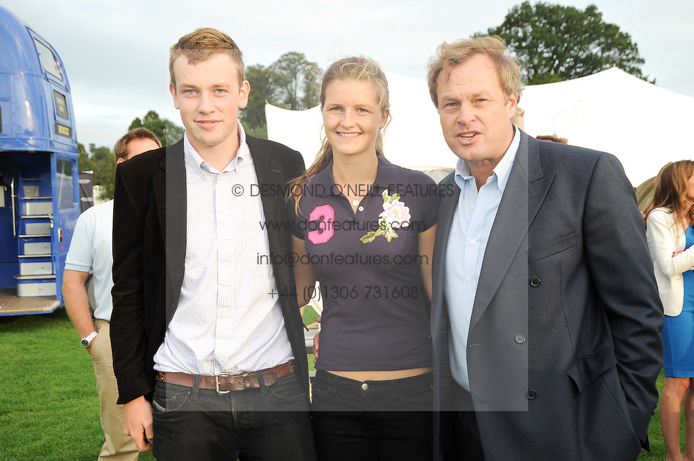 Left to right, the EARL OF MEDINA, LOUISA WENTWORTH-STANLEY and the MARQUESS OF MILFORD-HAVEN at the 4th Jaeger-LeCoultre Polo Cup in aid of the James Wentworth-Stanly Memorial Fund held at Coworth Park, Ascot, Berkshire on 10th September 2010.
