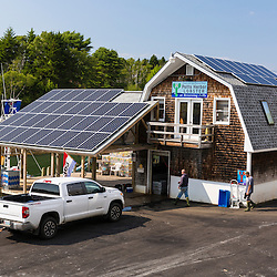 Potts Harbor Lobster in Harpswell, the only solar powered lobster company in Maine.