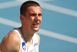 Sebastjan Jagarinec of Slovenia after he competed during the first round of the men's 400m at the 2010 European Athletics Championships at the Olympic Stadium in Barcelona on July 27, 2010.(Photo by Vid Ponikvar / Sportida)