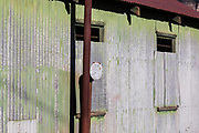 An old corrugated tin storage shed, Megalong Valley, The Blue Mountains, NSW, Australia.