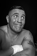 Ultimate bare-Knuckle boxing competition at Manchester's Bowlers Exhibition Centre, Old Trafford, Manchester, UK.<br /> Photo shows Andy Roberts who his fight against Danny Leadbetter.<br /> Photo ©Steve Forrest/Workers' Photos