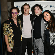 Jack McEvoy,Oliver Smiles,Ben Luke Jones and Alizey Mirza attend Nina Naustdal catwalk show SS19/20 collection by The London School of Beauty & Make-up at Bagatelle on 26 Feb 2019, London, UK.