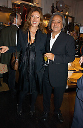Artist ANISH KAPOOR and his wife SUSANNAH at a party to celebrate the publication of Bebe Blue and the Evil Gangsta Rappers by Ashley Hicks, held at 28 Cadogan Place, London SW1 on 15th November 2006.<br /><br />NON EXCLUSIVE - WORLD RIGHTS
