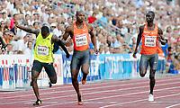 Friidrett , 3. juli 2009, Golden League , Exxon Mobil Bislett Games<br /> Saidy Jaysuma Ndure , Asafa Powell , Daniel Bailey 100 metres