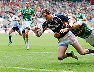 Photo by Andrew Tobin/Tobinators Ltd. Zac Test of the USA in action during the IRB London Rugby 7s tournament held at Twickenham Stadium, London on 12th May 2013. New Zealand won the tournament beating Australia in the final, and also won the overall 2012/13 series.