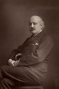 (Charles) Hubert (Hastings) Parry (1848-1918) English composer and Director of the Royal College of Music from 1894 until his death. From 'The Cabinet Portrait Gallery' (London, 1890-1894).  Woodburytype after photograph by W & D Downey.