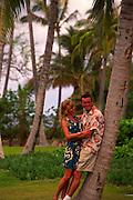 Couple in coconut grove<br />