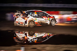 October 26, 2017 - Deeside, Wales, United Kingdom - 10 Jari-Matt Latvala (FIN) and co-driver Miikka Anttila (FIN) of Toyota Gazoo Racing compete in the Tir Prince Special Stage, Wales of the Rally GB round of the 2017 FIA World Rally Championship. (Credit Image: © Hugh Peterswald/Pacific Press via ZUMA Wire)
