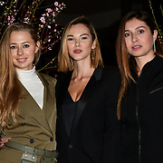 Kotelevska Yuliia,Anastasiia Masiutkina , Marina Yaroslavska attend Travel bag brand hosts the launch of its exclusive luxury collection of handbags in collaboration with model and designer Anastasiia Masiutkina  D'Ambrosio on 26 March 2019, Caviar House & Prunier 161 Piccadilly, London, UK.