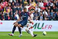 Paris Saint Germain's French forward Kylian Mbappe runs during the French Championship Ligue 1 football match between Paris Saint-Germain and Girondins de Bordeaux on September 30, 2017 at the Parc des Princes stadium in Paris, France - Photo Benjamin Cremel / ProSportsImages / DPPI