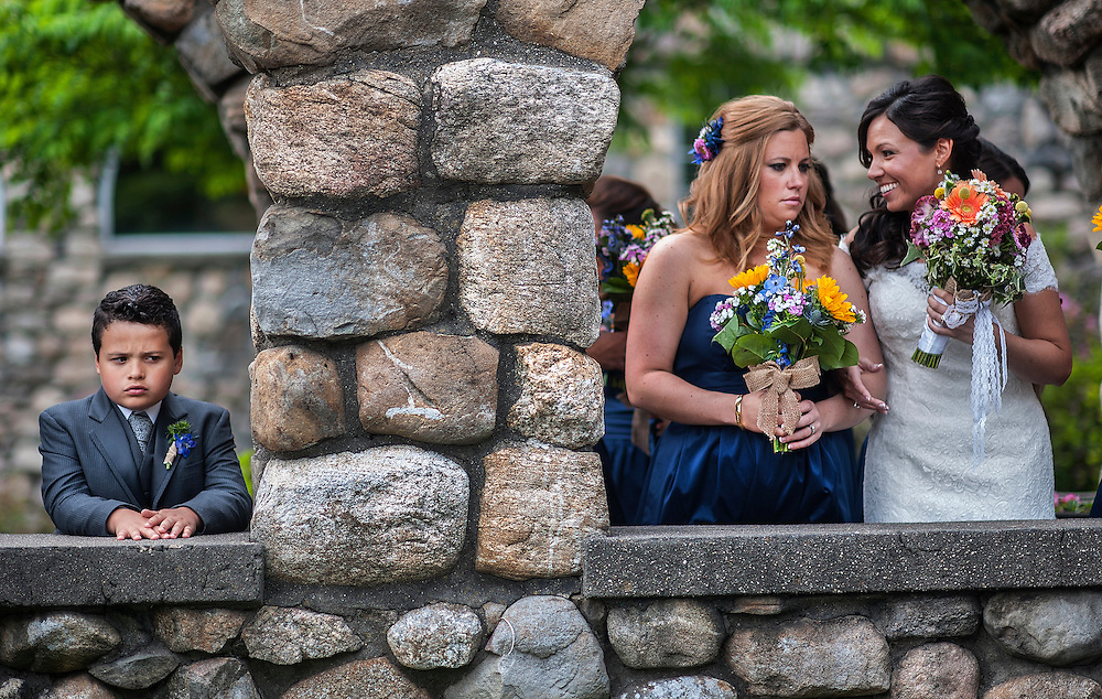A bride and her wedding party held at Ramsey Country Club in Ramsey, New Jersey.