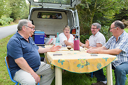 Locals have set up a full spread to watch at Grand Prix de Plouay Lorient Agglomération a 121.5 km road race in Plouay, France on August 26, 2017. (Photo by Sean Robinson/Velofocus)