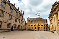 The Sheldonian Theatre durung lockdown 2020 , an exquisite Grade I listed building situated in Oxford's city centre, is the official ceremonial hall of the University of Oxford Photo by Brian Jordan