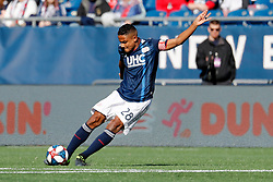 March 9, 2019 - Foxborough, MA, U.S. - FOXBOROUGH, MA - MARCH 09: New England Revolution defender Michael Mancienne (28) plays the ball during a match between the New England Revolution and Columbus Crew SC on March 9, 2019, at Gillette Stadium in Foxborough, Massachusetts. (Photo by Fred Kfoury III/Icon Sportswire) (Credit Image: © Fred Kfoury Iii/Icon SMI via ZUMA Press)