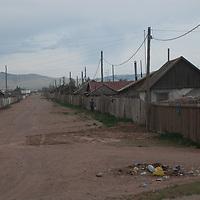 Back street in Muren, Mongolia