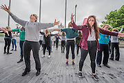 More practice - The Mayor of London Sadiq Khan joined choreographer Akram Khan and Londoners as they warmed-up at City Hall for the international Big Dance Pledge. On Friday 20 May, over 40,000 people in 43 countries around the world will take part in the Big Dance event, which has been specially choreographed by Akram Khan. Among the Londoners were: Students from University of Roehampton; MovE17 community group; Children from John Scurr Primary School; and the Croydon Community Dance group. This year is the finale of Big Dance, celebrating ten years of grassroots and community dance.