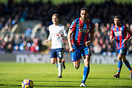 Crystal Palace #10 Andros Townsend during the Premier League match between Crystal Palace and Tottenham Hotspur at Selhurst Park, London, England on 25 February 2018. Picture by Sebastian Frej.
