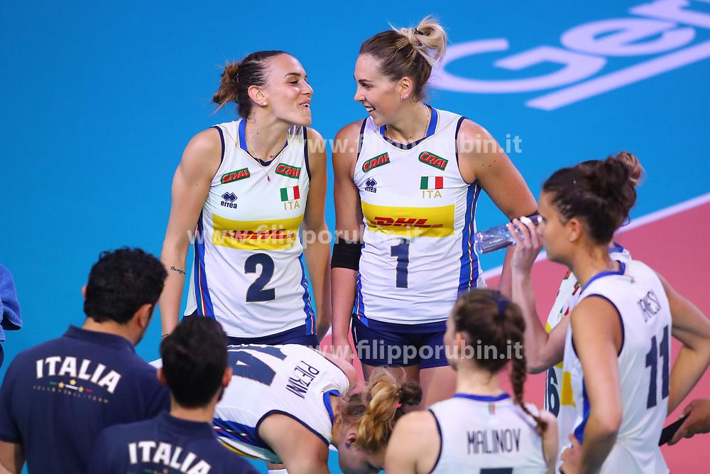 SARA ALBERTI (ITALIA) E INDRE SOROKAITE (ITALIA)<br /> ITALIA - REPUBBLICA DOMINICANA<br /> PALLAVOLO VNL VOLLEY FEMMINILE 2019<br /> CONEGLIANO (TV) 28-05-2019<br /> FOTO FILIPPO RUBIN