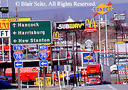 Southwest PA, Commerce, Intersection Interstates 76 and 70, US Rt. #30, Breezewood, Pennsylvania