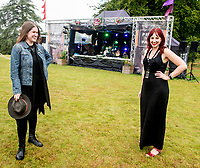 Jessica Lee Morgan and  anna Neale  live at the Picnic at the Palace at  Blenheim Palace ,woodstock oxfordshire 15 aug 2020 Photo by Brian Jordan