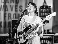 Fríða Björg Pétursdóttir of Icelandic punk band Gróa at Iceland Airwaves