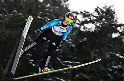 Carina Vogt of Germany during Normal Hill Individual Competition at FIS World Cup Ski jumping Ladies Ljubno 2012, on February 11, 2012 in Ljubno ob Savinji, Slovenia. (Photo By Vid Ponikvar / Sportida.com)