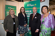 21/1/16  US Ambassador Kevin O'Malley at the Bradley International Airport stand at the Holiday World Show in the RDS in Dublin. Picture: Arthur Carron