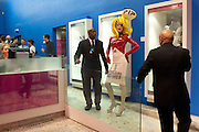 PANDEMONIA PANDEMONIA WITH SECURITY MEN, HOUSE OF BLUEEYES ? show  in the Undercover exhibition. Fashion and Textile Museum, Bermondsey Street<br /> London. 25 July 2009<br /> PANDEMONIA PANDEMONIA WITH SECURITY MEN, HOUSE OF BLUEEYES Ð show  in the Undercover exhibition. Fashion and Textile Museum, Bermondsey Street<br /> London. 25 July 2009