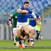 Roma 27/02/2021, Stadio Olimpico<br /> Guinness Six Nations 2021<br /> Italia vs Irlanda <br /> <br /> Mattia Bellini