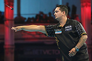 Jefferey de Zwaan during the BetVictor World Matchplay Darts 2018 semi final at Winter Gardens, Blackpool, United Kingdom on 28 July 2018. Picture by Shane Healey.
