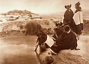 NATIVE AMERICANS E. Curtis photograph, early 20th century, Loitering at the Spring (Hopi Women)