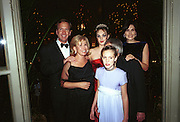 Neil and Sharon Bush. Tamara Ecclestone, her parents Mr. and Mrs. Bernard Ecclestone and Petra Ecclestone. Crillon Haute Couture Ball. Crillon Hotel, Paris. 2 December 2000. © Copyright Photograph by Dafydd Jones 66 Stockwell Park Rd. London SW9 0DA Tel 020 7733 0108 www.dafjones.com