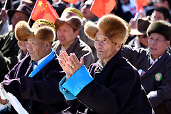 March 28, 2019 - Lhasa, Tibet - A convention is held to celebrate the 60th anniversary of the campaign of democratic reform in Tibet in the Potala Palace square in Lhasa, capital of southwest China's Tibet Autonomous Region, March 28, 2019. (Credit Image: © Xinhua via ZUMA Wire)