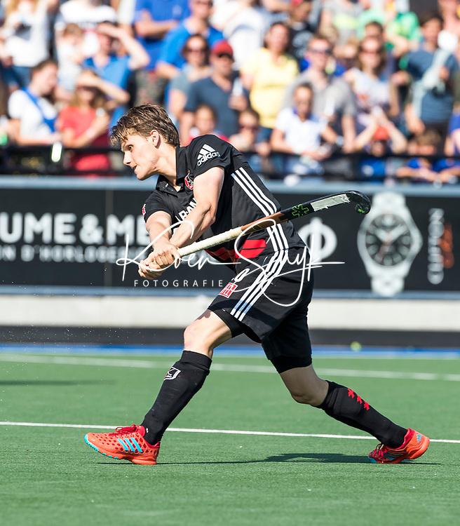 UTRECHT -  Tijn Lissone (A'dam)   tijdens   de finale van de play-offs om de landtitel tussen de heren van Kampong en Amsterdam (3-1). Kampong kampioen van Nederland. COPYRIGHT  KOEN SUYK