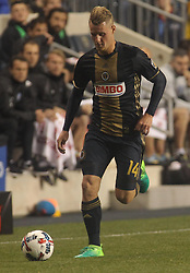 April 14, 2017 - Chester, PA, United States of America - Philadelphia Union Midfielder FABIAN HERBERS (14) dribbles down the field in the second half of a Major League Soccer match between the Philadelphia Union and New York City FC Friday, Apr. 17, 2016 at Talen Energy Stadium in Chester, PA. (Credit Image: © Saquan Stimpson via ZUMA Wire)